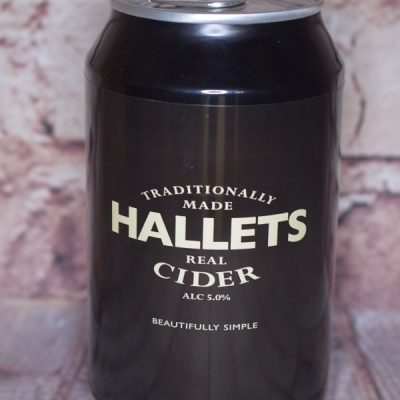 Hallets Cider Can